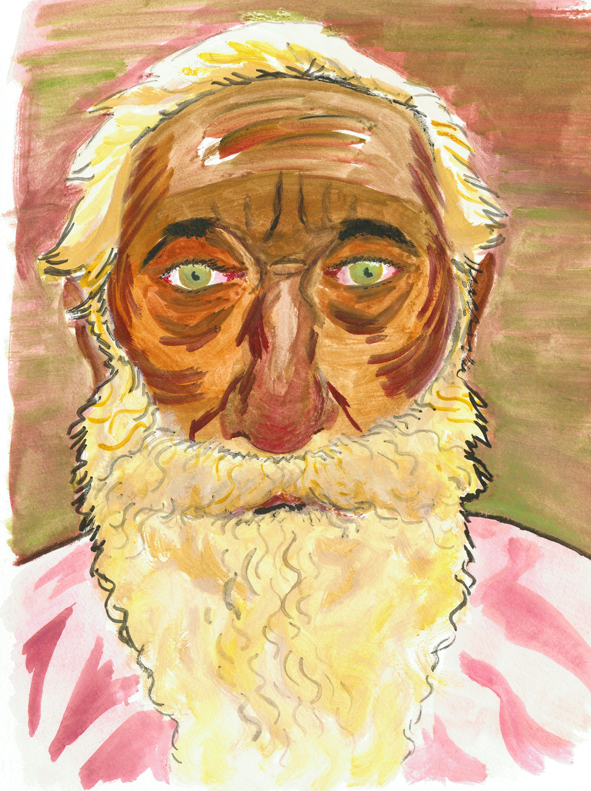"""The Old Man"" - mixed media"