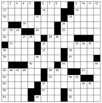 Prohibition-themed crossword puzzle