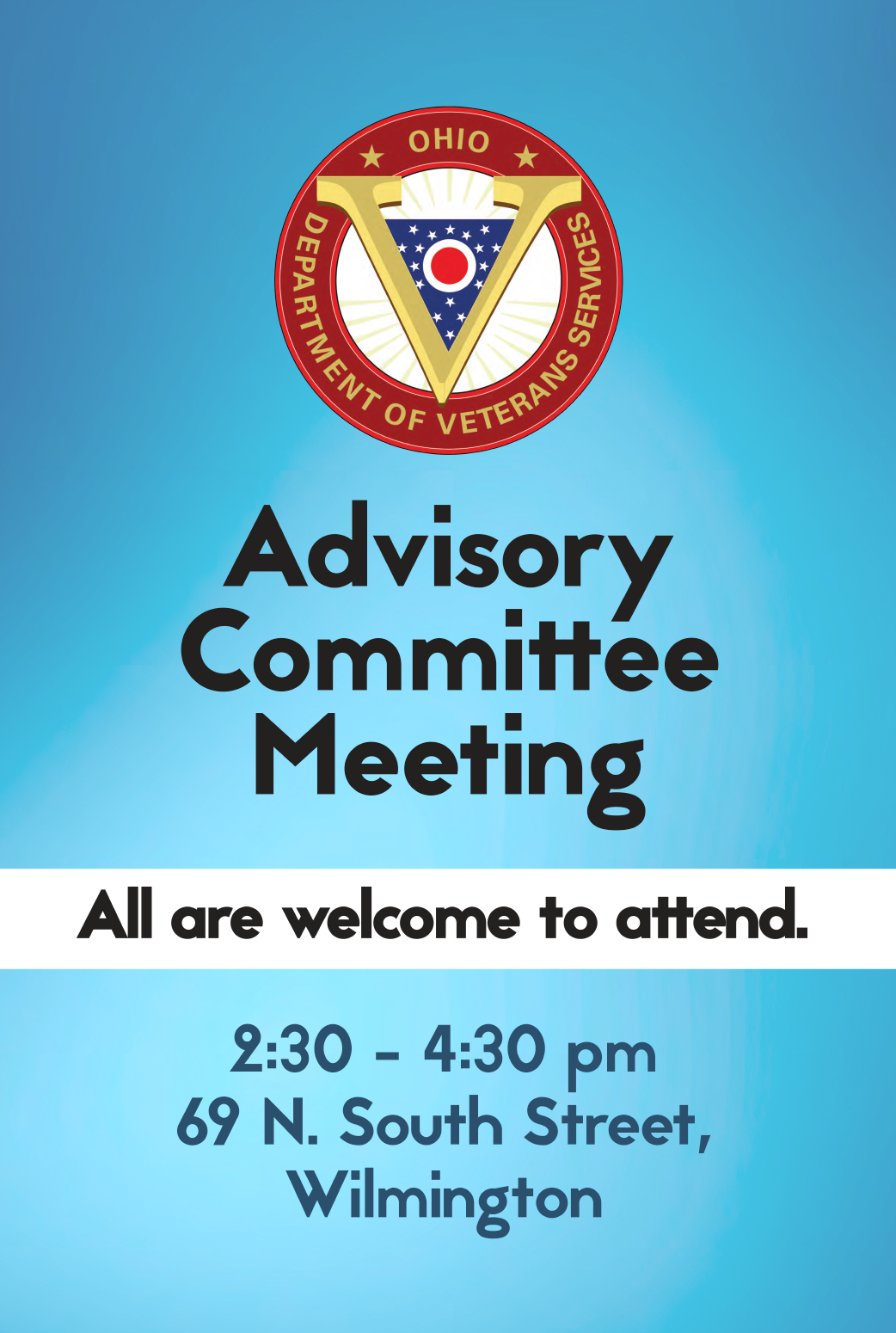 Advisory Committee meeting signage